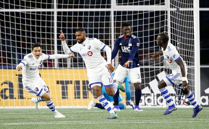 Travel-worn Impact de Montréal score late and often in 3-0 win over New England Revolution