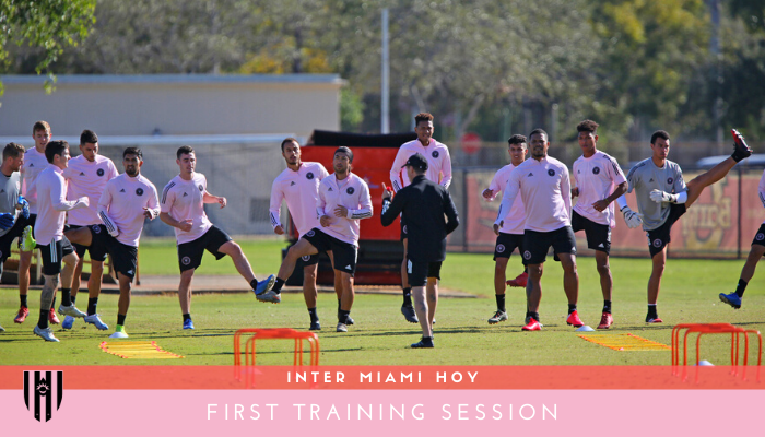 Inter Miami First Training Session